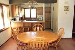 Mammoth Vacation Rental Sunrise 6 - Dining Room Open to the Kitchen
